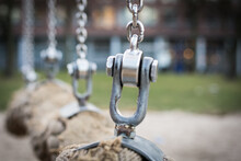 Close-up Of Chain Hanging Outdoors