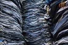 Full Frame Shot Of Jeans For Sale At Market