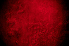 Old Wall Texture Cement Black Red  Background Abstract Dark Color Design Are Light With White Gradient Background.