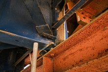High Angle View Of Old Machinery