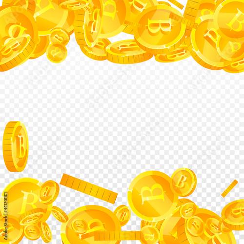 Fototapeta Thai baht coins falling