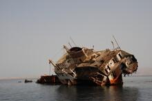 Wreck Of The Loullia, Tiran, Egypt