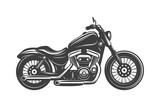 Fototapeta Sypialnia - black motorcycle icon