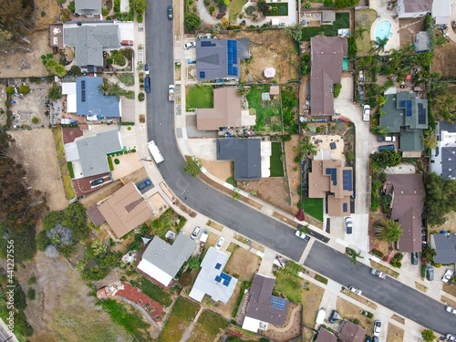 Aerial view of middle class Oceanside town in San Diego, California Fototapeta
