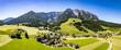 Leinwandbild Motiv view from Walchsee - Zahmer Kaiser