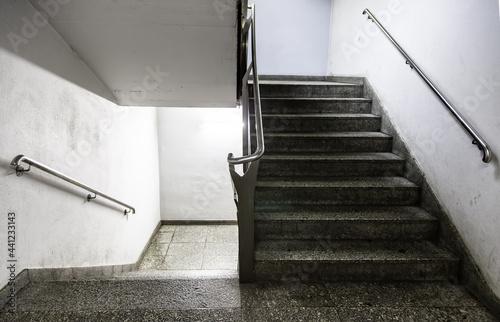Modern double stairs Fototapeta