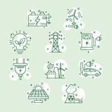 Fototapeta Sypialnia - ten energy icons