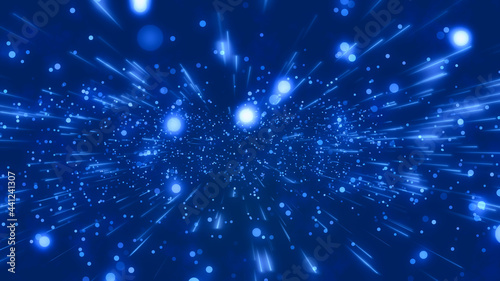 Photographie Abstract digital background with particle explosion 02 -