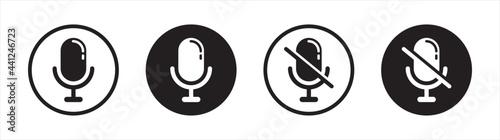 Fotografia Microphone audio sound icon symbol flat design vector