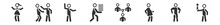 Filled Set Of People Icons. Glyph Vector Icons Such As Scholar Girl Front, Slap, Goodbye, Student Books, Complex, Cinema Award. Vector Illustration.