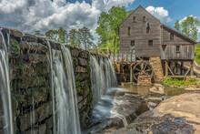Old Yates Mill With Waterwheel Near Raleigh, North Carolina