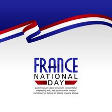 Vector Graphic Of France National Day Good For France National Day Celebration. Flat Design. Flyer Design.flat Illustration.