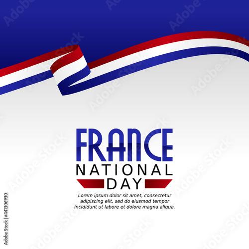 Fototapeta vector graphic of France national day good for France national day celebration