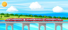 Skytrain And Landscape With Cityscape.