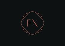 Initial Letter FX Logo Design Template