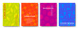 Set of Colorful Geometric Backgrounds. Vector Cover Design Templates.