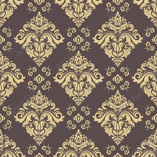 Tapety Orientalne  klasyczny-bezszwowe-wektor-wzor-orient-adamaszkowy-klasyczne-tlo-brazowe-i-zlote-orientacyjna-ozdoba-do-tkanin-tapet-i-opakowan