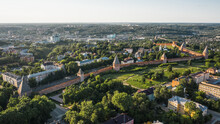 Aerial View Of Famous Smolensk Fortress Wall