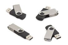 Usb Stick Or Flash Drive Isolated On White Background