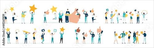 Fotografia Customer feedback, testimonial, online survey concept