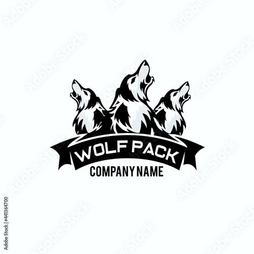 Obraz na plátně wolf pack logo exclusive design inspiration