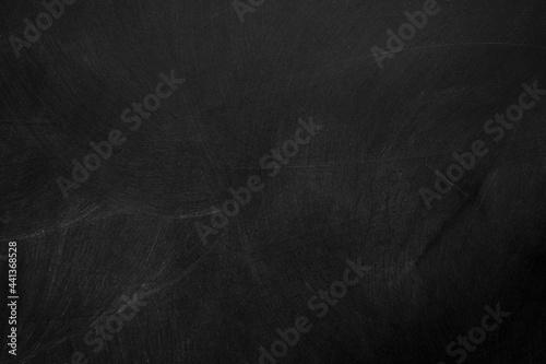 Texture of chalk on black chalkboard or blank blackboard background Fotobehang