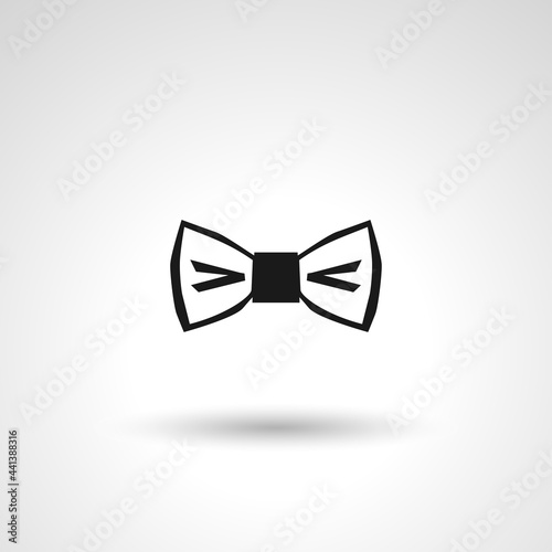 bow tie sign. bow tie isolated simple vector icon Fotobehang