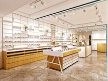 3d Render Of Eye Glass Shop