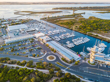 Aerial View Of The Marina At Queenscliff On Swan Bay