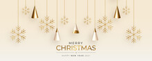 Cute Christmas Greeting Card With Realistic 3d Christmas Tree Composition
