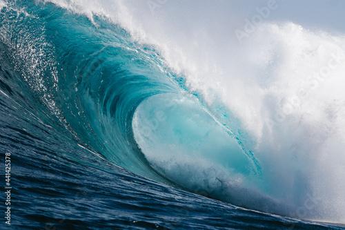 Obraz na plátně gran ola azul rompiendo con fuera en la costa de Islas Canarias