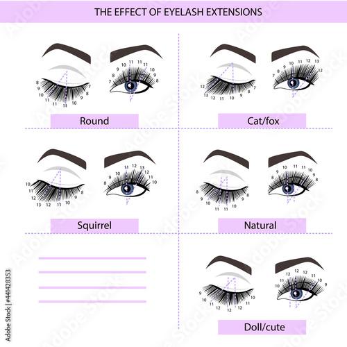 Fotografia, Obraz Eyelash Extension Guide