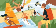 Summer Sport Illustration