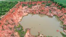 View From Drone At Country At Nakhonratchasima,Grand Canyon Thailand