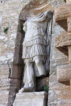 Roman Statue In Ibiza, Spain