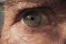 Brown Eye Of Unrecognizable Person