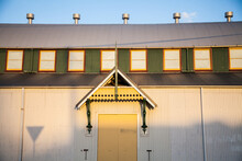 Afternoon Light And Shadows On Showground Building In Singleton