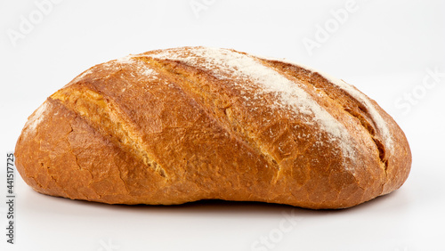 Fotografie, Obraz Loaf of bread isolated on white background