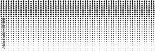 horizontal black blended star for pattern and background