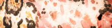 African Giraffe. Pink Spot Fabric. Brown Giraffe Silhouette Elegant. Dalmatian Spot. Beige Texture. Sepia Cow Stains. Illustrated Farm Animals.