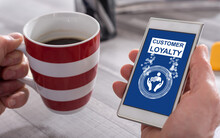 Customer Loyalty Concept On A Smartphone