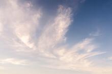 White Cirrus Clouds In A Blue Sky