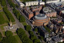 UK, London, Aerial View Of Royal Albert Hall And Albert Memorial In Kensington
