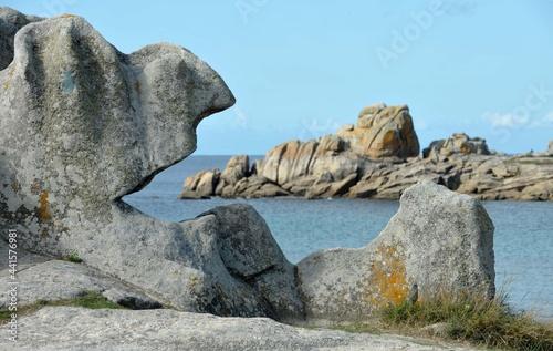 Fototapeta les rochers à Lesconil en Finistère Bretagne France