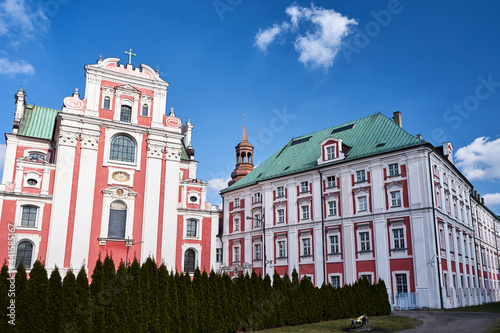 baroque buildings of a former monastery on a sunny day