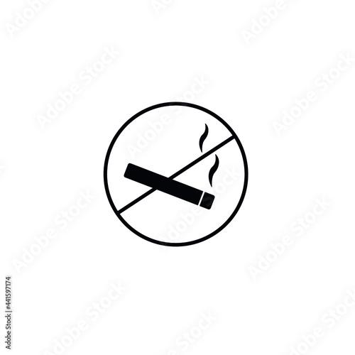 Canvas Print Smoke zone ban, no smoking simple icon vector illustration