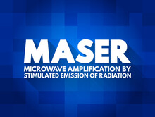 MASER - Microwave Amplification By Stimulated Emission Of Radiation Acronym, Abbreviation Concept Background
