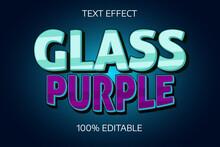 Purple Glass Editable Text Effect