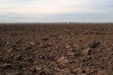 Treated Soil. Land For Planting Agricultural Plants. Background.
