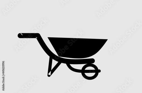 Tela Vector stock of a wheelbarrow for transporting materials